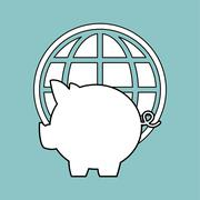 Money design. Financial item icon. White background, isolated il - stock illustration