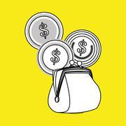Money design. Financial item icon. White background, isolated illustartion - stock illustration
