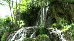 Waterfall in stand straight bespuća BIGER Stock Footage