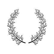 Wreath icon. Rustic design. vector graphic Stock Illustration