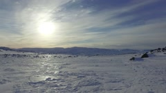 Iceberg / Ice Field Tracking Shot on Glacier Stock Footage
