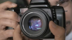 4K Male Photographer Shooting Pictures With His DSLR Camera - stock footage