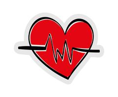 Heart and cardiology icon. Lifestyle design. vector graphic - stock illustration