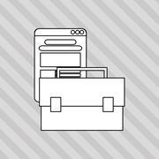 Digital Marketing design. Media icon. Colorfull illustration, graphic Stock Illustration