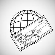 Financial item design. money icon. Flat illustration, vector gra Stock Illustration