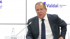 Sergey Lavrov - Russian diplomat, and currently the Foreign Minister of Russia - stock footage