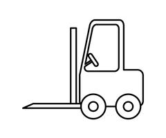 Forklift icon. Delivery and Shipping design. vector graphic - stock illustration