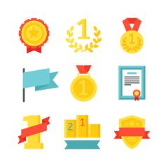 Sports awards vector illustration Stock Illustration