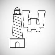 Vacation design. travel icon. flat illustration, vector graphic - stock illustration