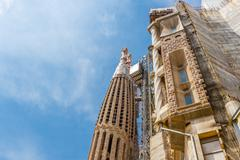 Barcelona, Spain - May 2, 2015: Barcelona Attractions, La Sagrada Familia, Ca - stock photo