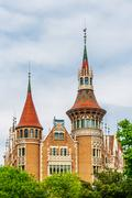 Barcelona Attractions, traditional architectures in Barcelona, Catalonia, Spa - stock photo