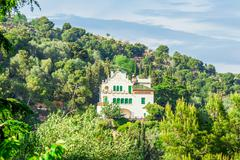 Barcelona, Spain - May 1, 2015: Barcelona Attractions, Park Guell by architec - stock photo
