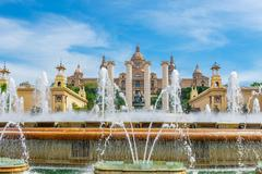 Barcelona, Spain - May 2, 2015: Barcelona Attractions, National Museum in Bar Kuvituskuvat