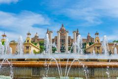 Barcelona, Spain - May 2, 2015: Barcelona Attractions, National Museum in Bar - stock photo