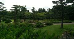 Panning shot in the Japanese garden in Düsseldorf (Germany) Stock Footage