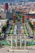 Barcelona, Spain - May 2, 2015: Barcelona Attractions, Plaza de Espana, Catal - stock photo