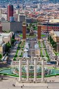 Barcelona, Spain - May 2, 2015: Barcelona Attractions, Plaza de Espana, Catal Stock Photos