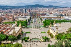 Barcelona, Spain - May 2, 2015: Barcelona Attractions, Plaza de Espana, Catal - stock photo