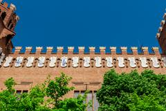 Barcelona Attractions, traditional architectures in Barcelona, Catalonia, Spa Stock Photos