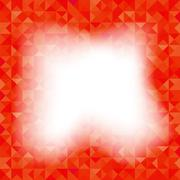 Red Background Geometric Triangles. Old Mosaic. - stock illustration