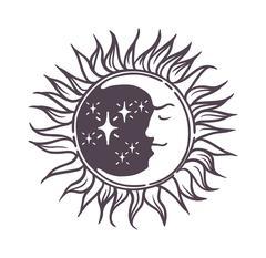 Moon design vector illustration - stock illustration