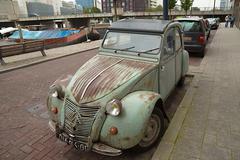 Old Rusty Classic Citroen - stock photo