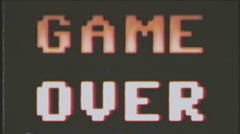 Game over vhs 8bit retro - stock footage