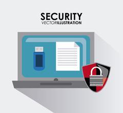 Security system desgin - stock illustration