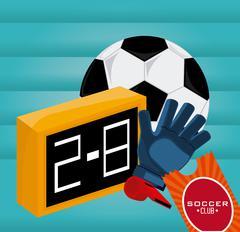Soccer club design Stock Illustration