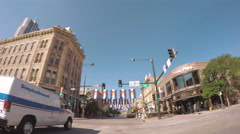View of the larimer Square in the Summer. Stock Footage