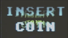 Game over vhs try coin 8bit retro Stock Footage
