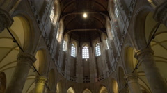 Nieuwe Kerk (New Church) Interior 2, Delft, Netherlands 4K Stock Footage