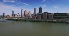 Rising Aerial View of Pittsburgh in the Day Stock Footage