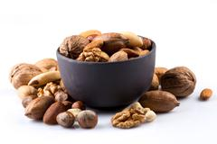 Nuts mix in bowl Stock Photos