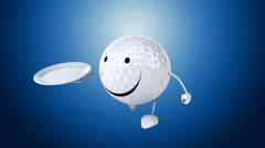 Golf - Computer animation Stock Footage