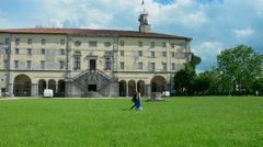 The castle of Udine Stock Footage