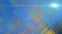 Color motion background with animated squares. Light ray effect. Stock Footage