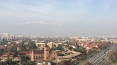 Santiago de Chile con smog Stock Footage
