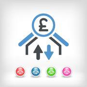 Money transfer icon - Sterling - stock illustration