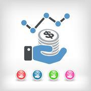 Financial statistics - Dollars - stock illustration