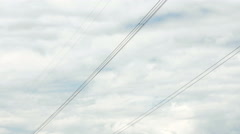 High-voltage power line in the ladscape Stock Footage
