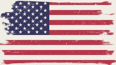 American flag with grunge frame Stock Illustration