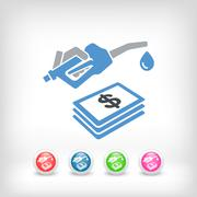 Fuel expense icon Stock Illustration