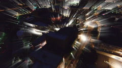 Aerial At Night Over Greenville South Carolina Stock Footage