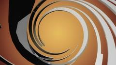 Orange background with spiral Black shape Stock Footage