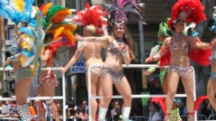 San Francisco Carnaval Stock Footage
