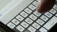 Typing message on mobile phone hello Stock Footage