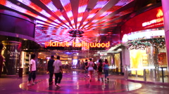 Entrance to Planet Hollywood Casino - Las Vegas Strip Stock Footage