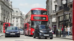 London Timelapse Regent Street 2 UHD - stock footage