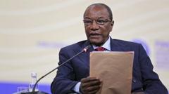President of Guinea Alpha Conde Stock Footage